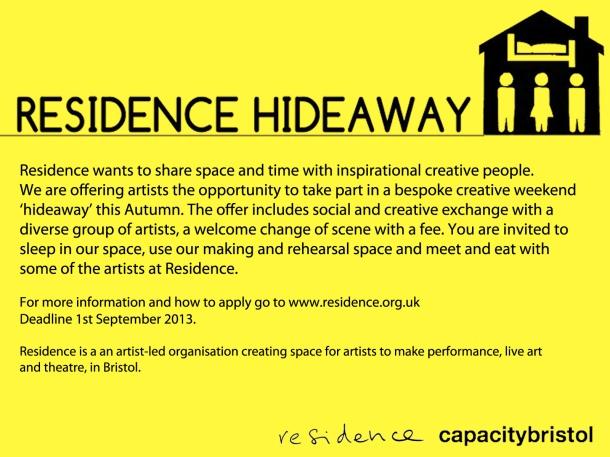 hideaway flyer
